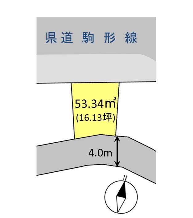 土地価格420万円、土地面積53.34m<sup>2</sup>