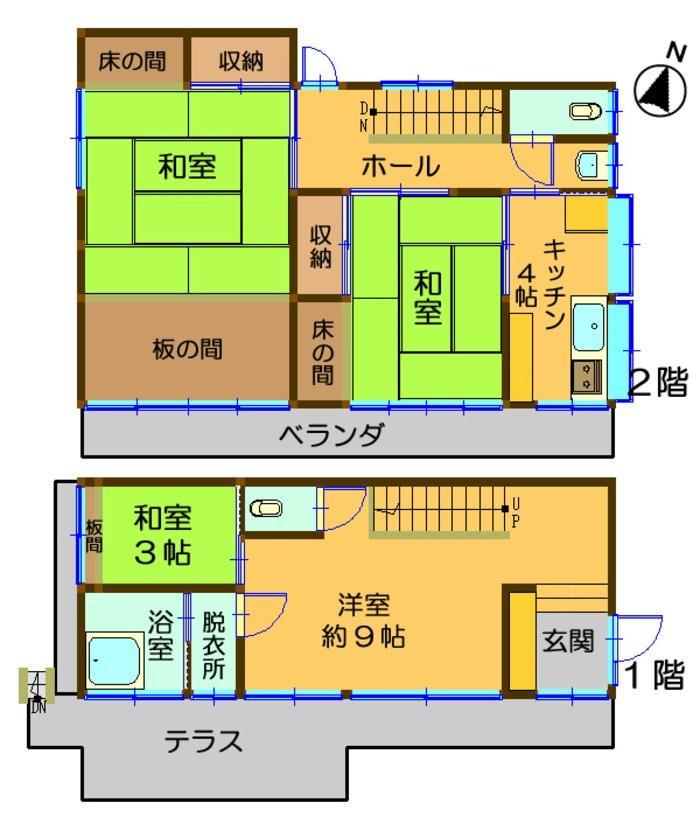 1180万円、3K、土地面積267.05m<sup>2</sup>、建物面積84.24m<sup>2</sup>