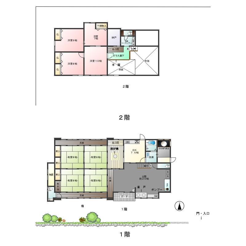 3980万円、8LDK、土地面積402.1m<sup>2</sup>、建物面積194.21m<sup>2</sup> 広々8LDK+土間20帖