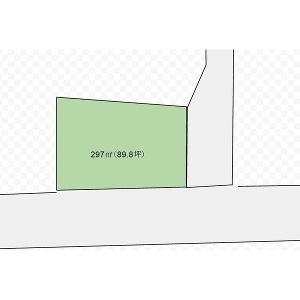 土地価格700万円、土地面積297m<sup>2</sup>