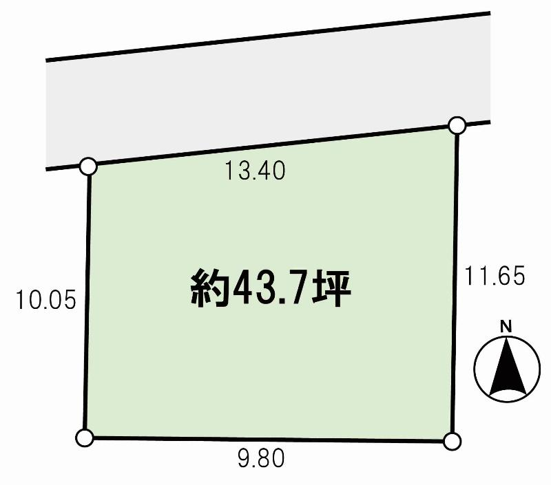 土地価格250万円、土地面積144.62m<sup>2</sup>