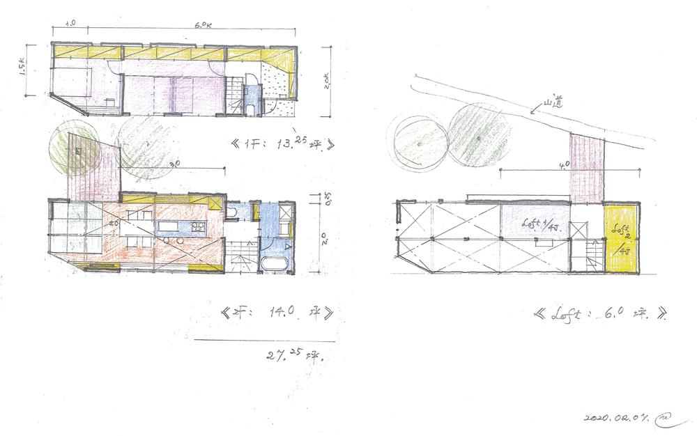 建物プラン例建物価格5530万円、建物面積 27.25坪
