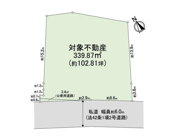 土地価格4800万円、土地面積339.87m<sup>2</sup> 間取り