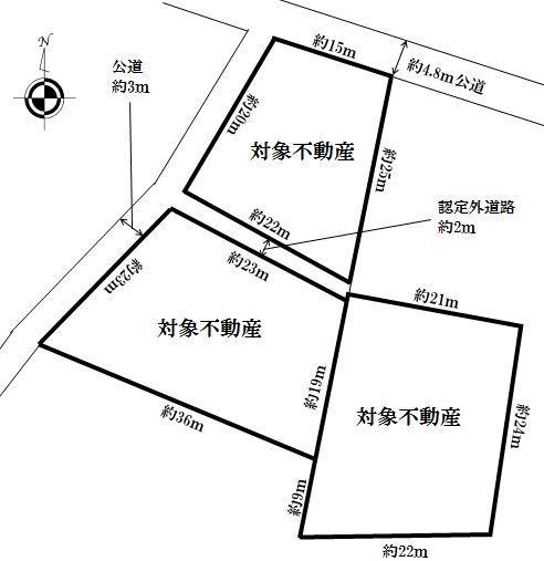 土地価格1500万円、土地面積1744m<sup>2</sup>