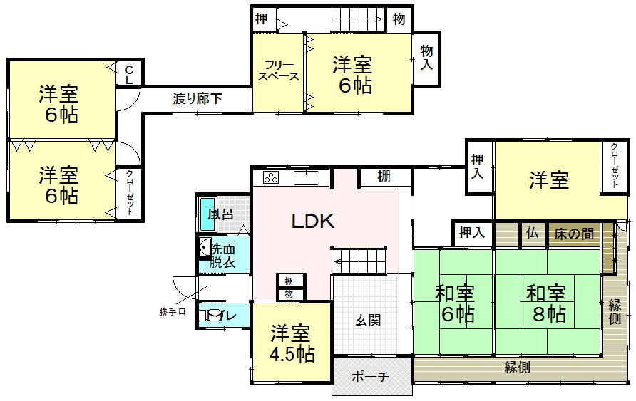 2800万円、7LDK、土地面積577.97m<sup>2</sup>、建物面積144.97m<sup>2</sup>