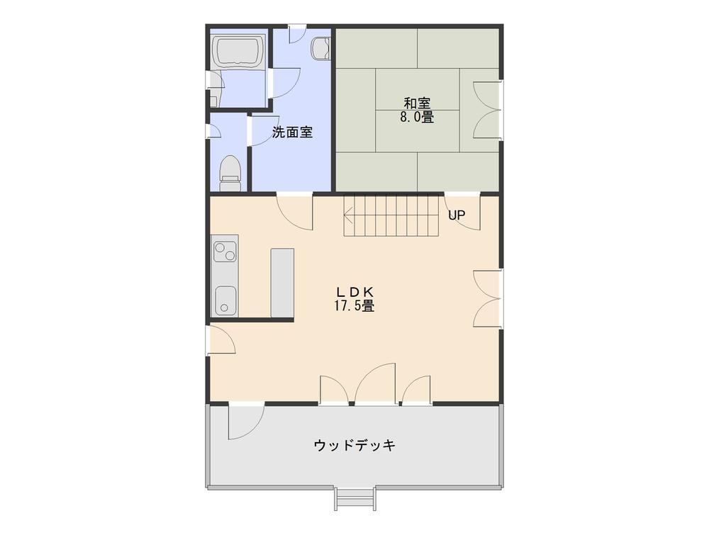 780万円、2LDK+S(納戸)、土地面積402.93m<sup>2</sup>、建物面積87.14m<sup>2</sup> 1階間取り図