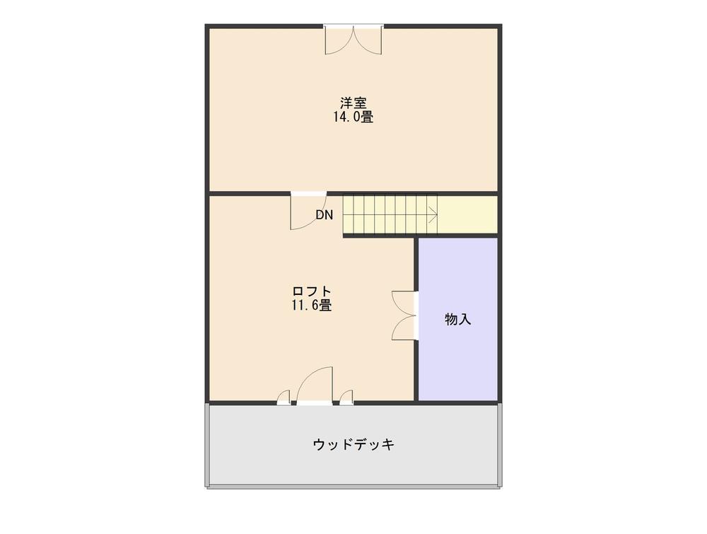780万円、2LDK+S(納戸)、土地面積402.93m<sup>2</sup>、建物面積87.14m<sup>2</sup> 2階間取り図