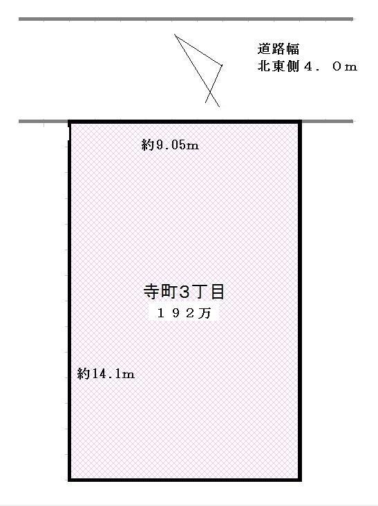 土地価格100万円、土地面積127m<sup>2</sup> 図面