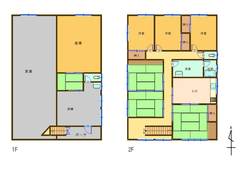 2180万円、6DK、土地面積172.92m<sup>2</sup>、建物面積155.3m<sup>2</sup>
