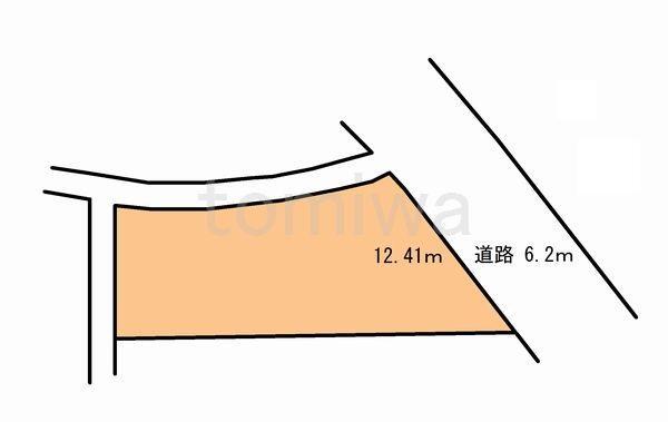 土地価格648万円、土地面積178.59m<sup>2</sup> 概測図