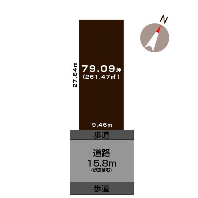 土地価格2768万円、土地面積261.47m<sup>2</sup>