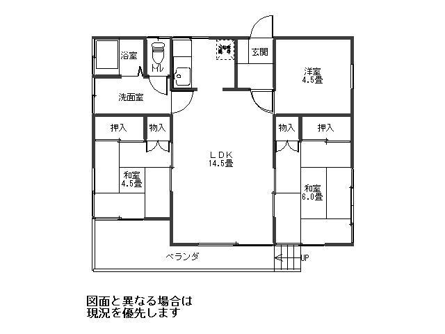 790万円、3LDK、土地面積343m<sup>2</sup>、建物面積63.76m<sup>2</sup>
