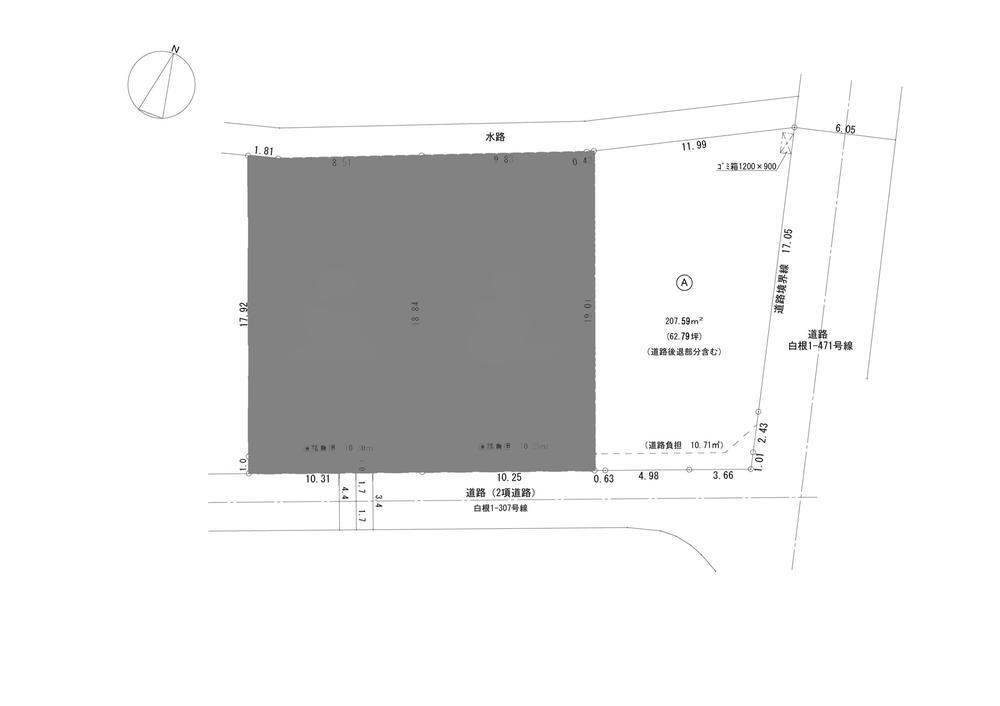 土地価格565万1000円、土地面積207.59m<sup>2</sup>