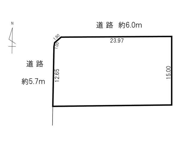 土地価格350万円、土地面積383.41m<sup>2</sup>