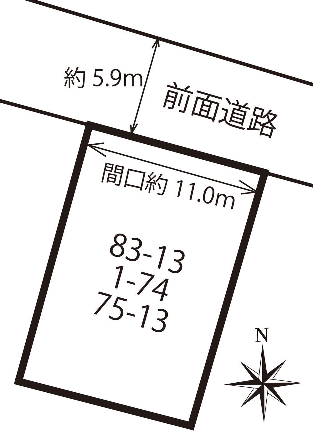 土地価格100万円、土地面積174.35m<sup>2</sup>