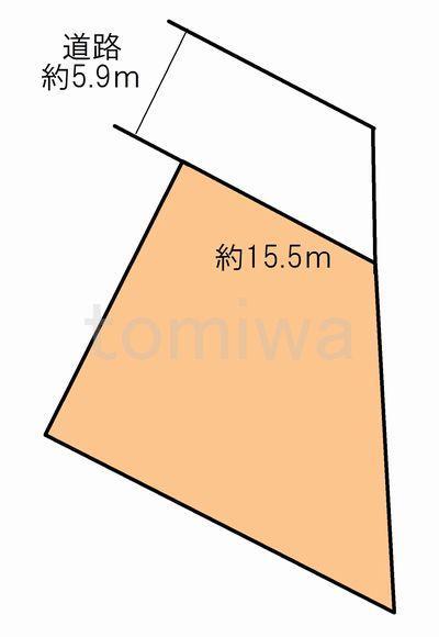 土地価格358万円、土地面積294.5m<sup>2</sup> 概測図