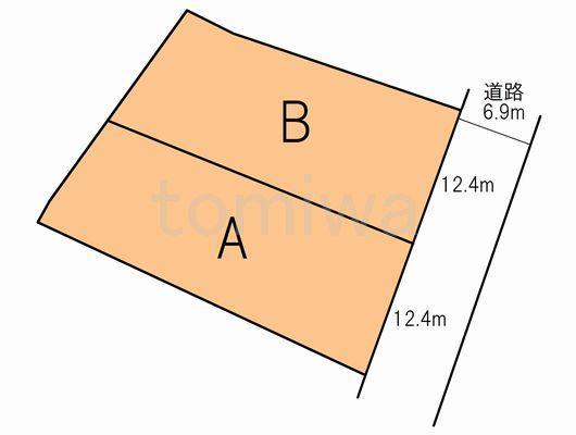 土地価格899万円、土地面積330.16m<sup>2</sup> 概測図