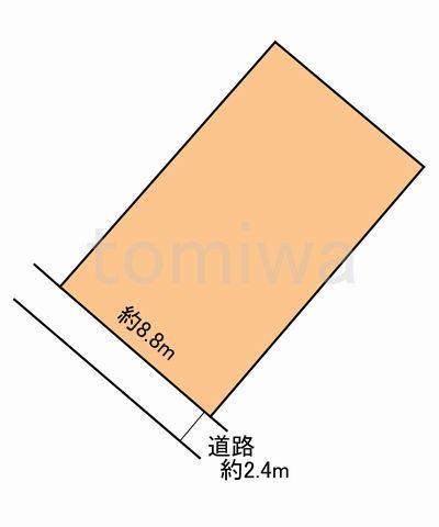 土地価格700万円、土地面積118.97m<sup>2</sup> 概測図