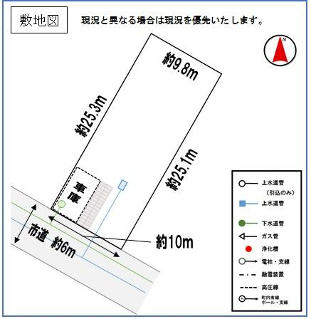土地価格190万5000円、土地面積252m<sup>2</sup>