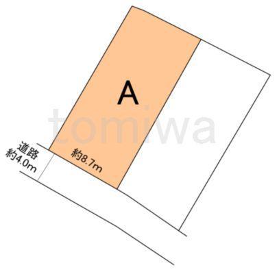 土地価格295万円、土地面積149.77m<sup>2</sup> 概測図
