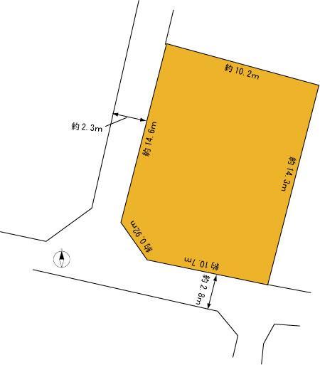 土地価格300万円、土地面積163.63m<sup>2</sup>
