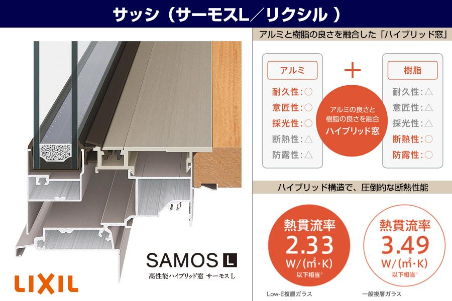 【樹脂複合サッシ(LIXIL/SAMOS L)】