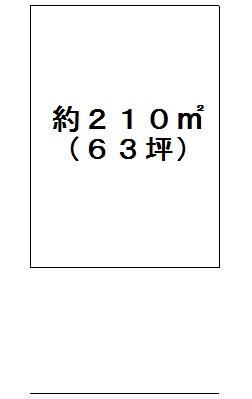 土地価格550万円、土地面積210m<sup>2</sup>