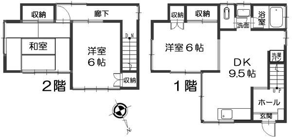 500万円、3DK、土地面積106.65m<sup>2</sup>、建物面積67.07m<sup>2</sup> 3DK