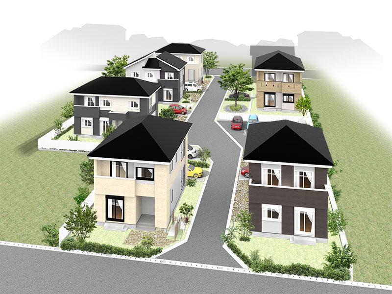 街並完成予想図です。CGイメージにつき、実際と異なる場合があります。