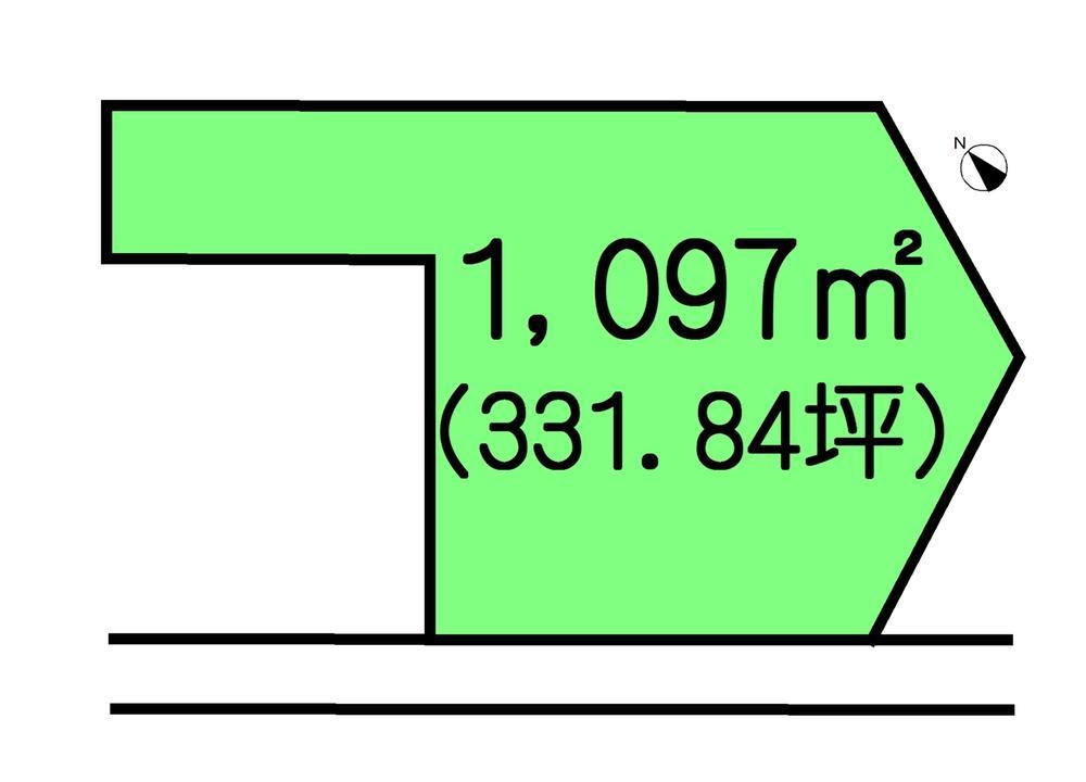 土地価格500万円、土地面積1,097m<sup>2</sup>