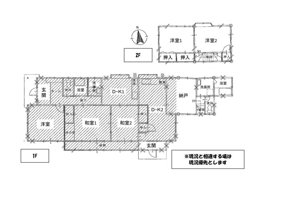 1800万円、6DDKK、土地面積337m<sup>2</sup>、建物面積146.37m<sup>2</sup>