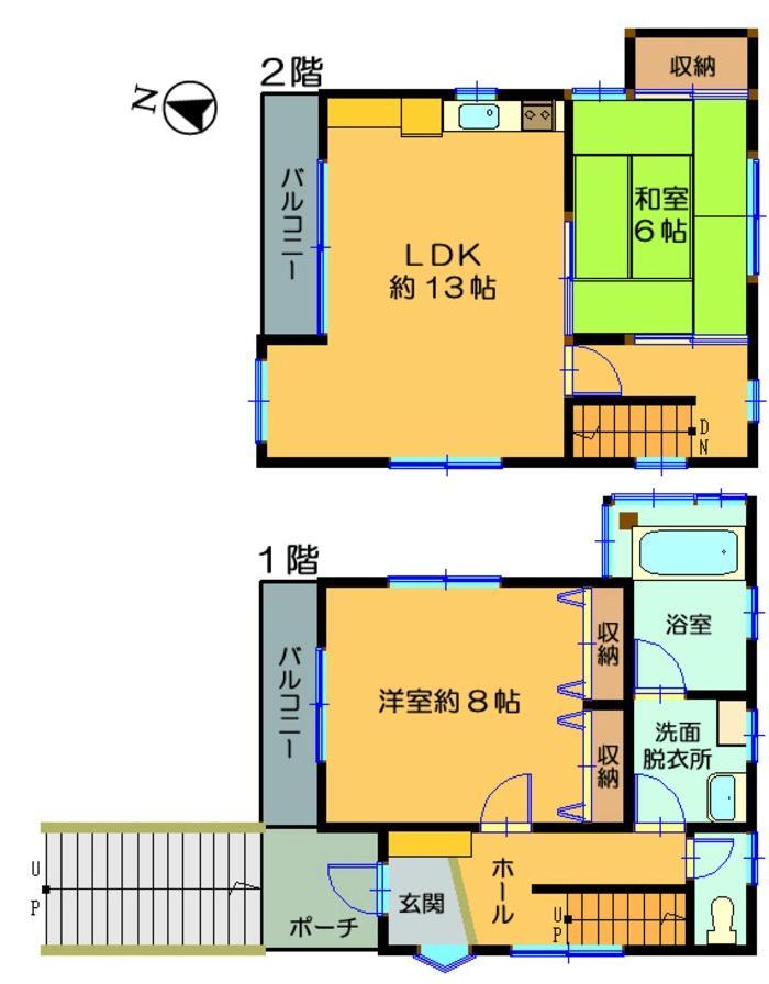 880万円、2LDK、土地面積301m<sup>2</sup>、建物面積72.87m<sup>2</sup>