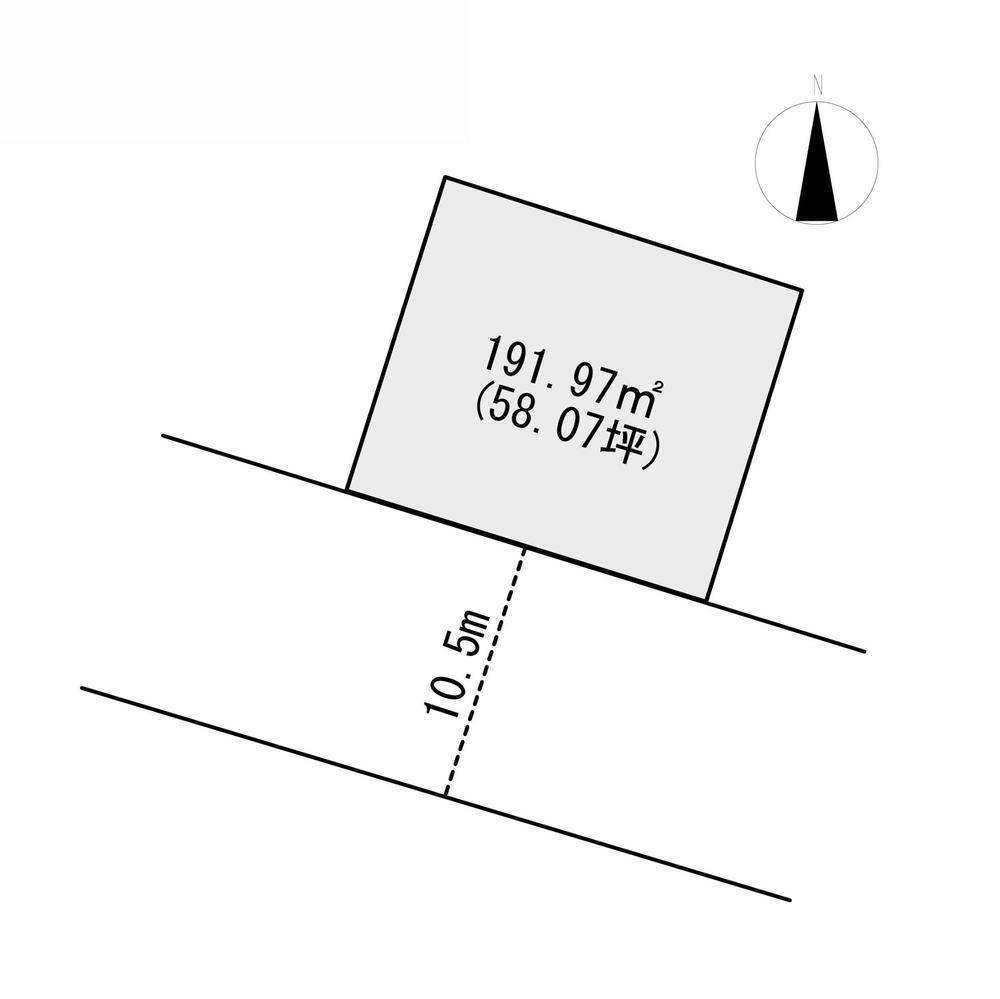 土地価格750万円、土地面積191.97m<sup>2</sup>