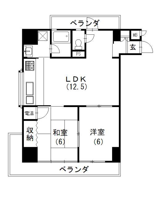 2LDK、価格2000万円、専有面積54.27m<sup>2</sup>