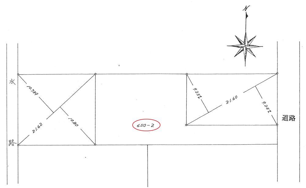 土地価格2100万円、土地面積351.33m<sup>2</sup> 地積測量図