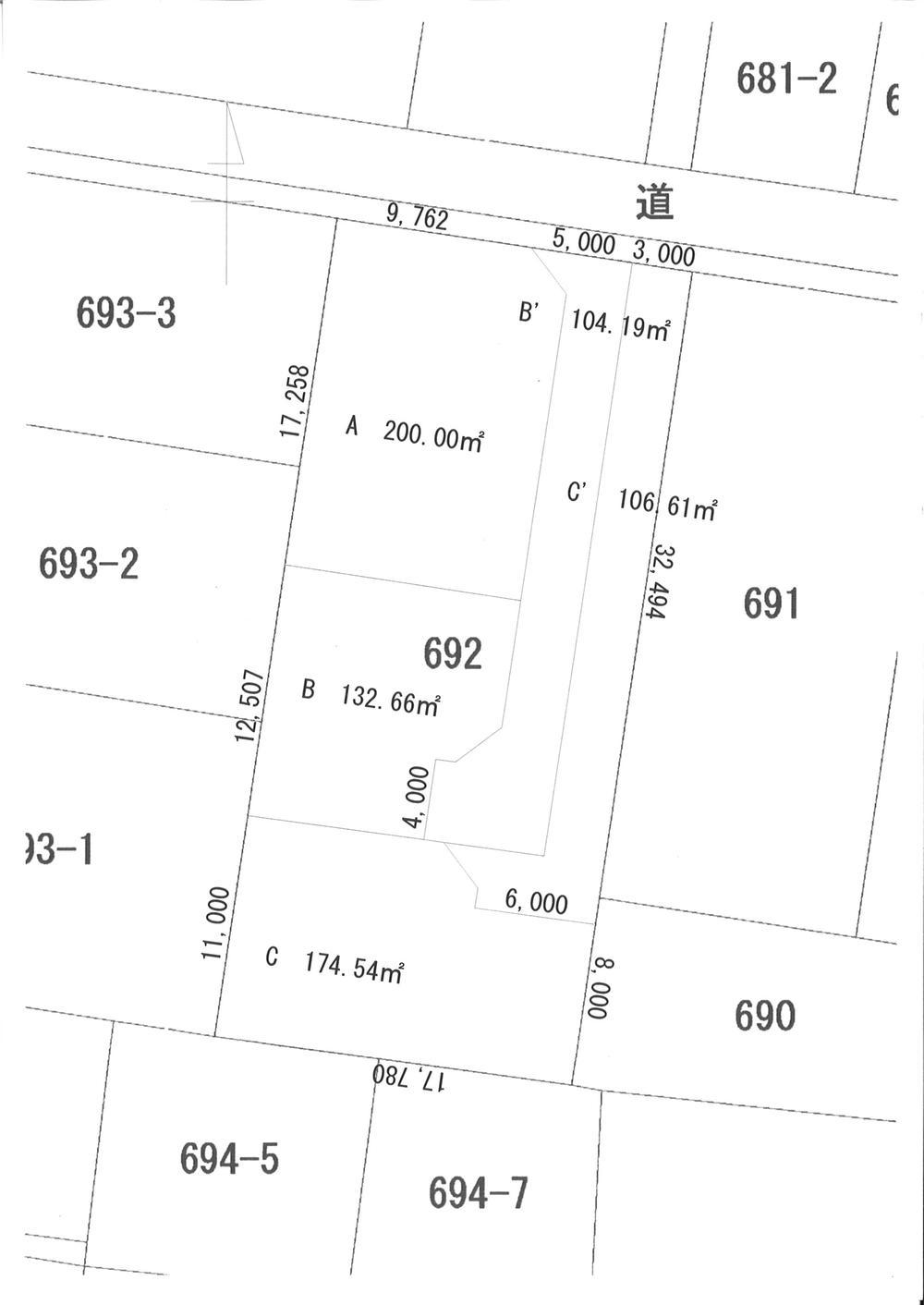 土地価格680万円、土地面積236.85m<sup>2</sup>