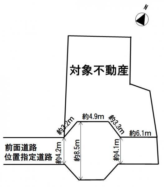 土地価格450万円、土地面積178.33m<sup>2</sup>