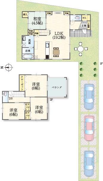 各居室には収納スペース、主寝室には4.5帖分の屋根付きバルコニーも設けました!