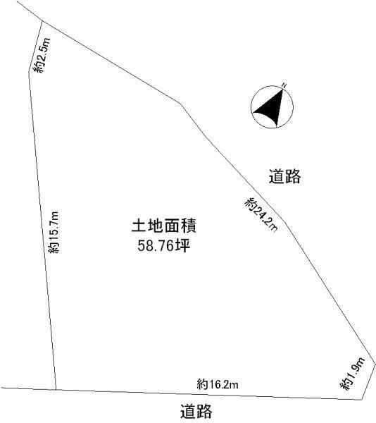土地価格1180万円、土地面積194.26m<sup>2</sup>