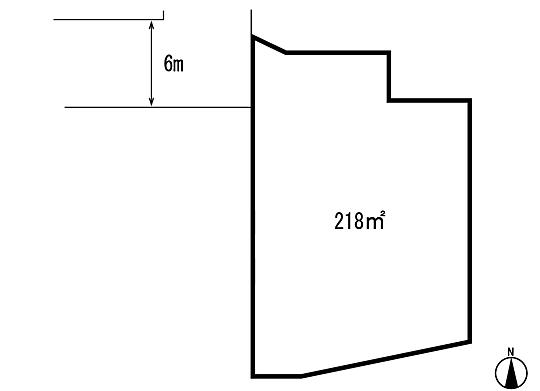 土地価格530万円、土地面積218m<sup>2</sup> 区画図
