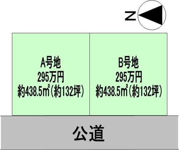 土地価格295万円、土地面積438.5m<sup>2</sup>
