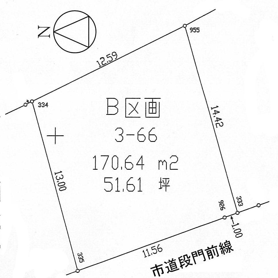 土地価格877万円、土地面積170.64m<sup>2</sup>