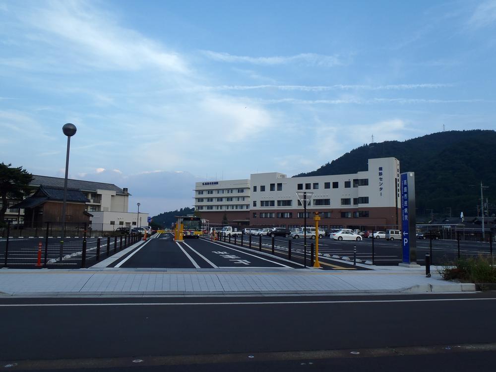 駅前に「高島市民病院」あり