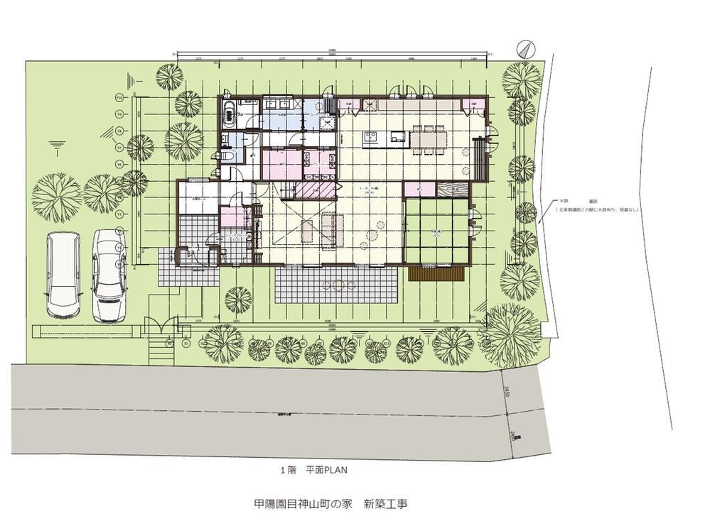 建物プラン例 建物参考価格8100万円、<BR>建物面積1階床面積137.96m<sup>2</sup><BR>建物プラン例は三井ホームです