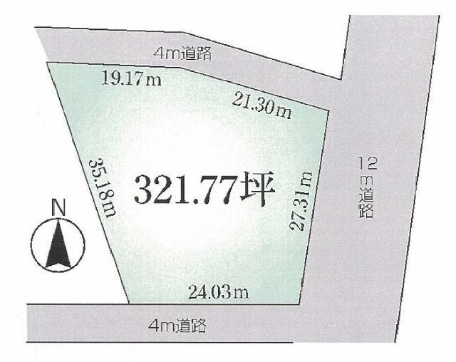 土地価格5500万円、土地面積1,063.71m<sup>2</sup>