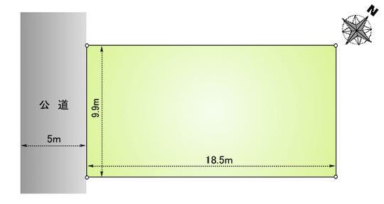 土地価格495万円、土地面積184m<sup>2</sup>