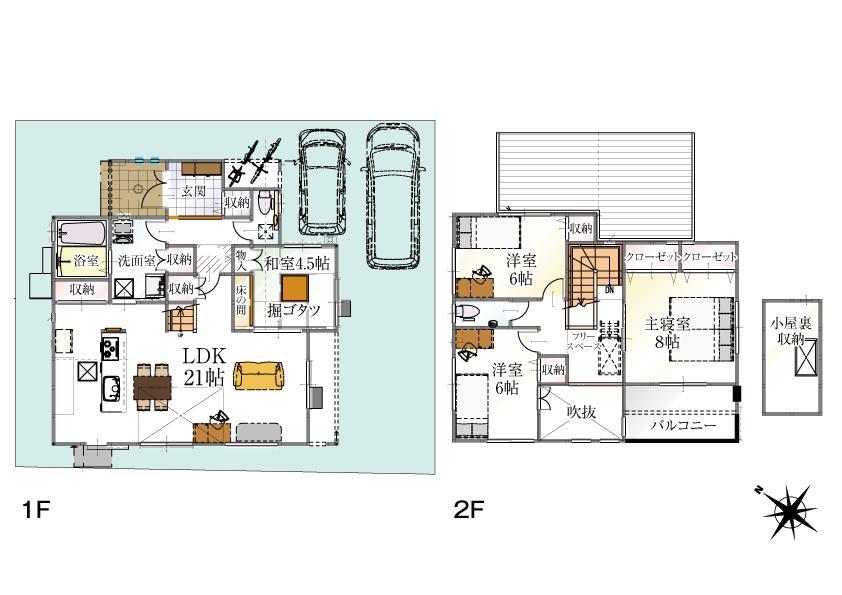 (14号地)、価格3330万円、4LDK、土地面積151.78m<sup>2</sup>、建物面積116.76m<sup>2</sup>