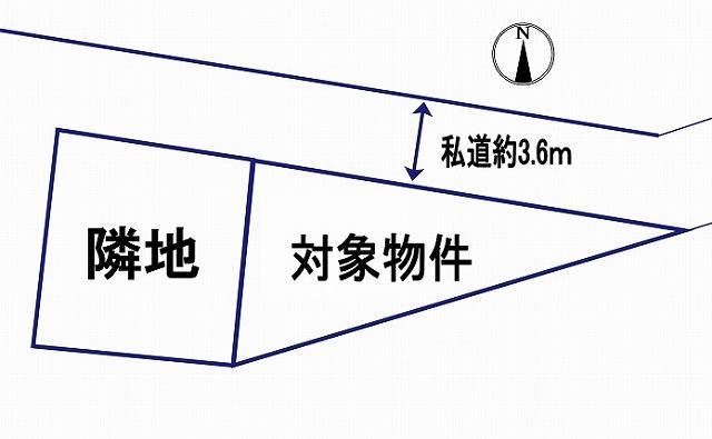 土地価格390万円、土地面積61.64m<sup>2</sup>