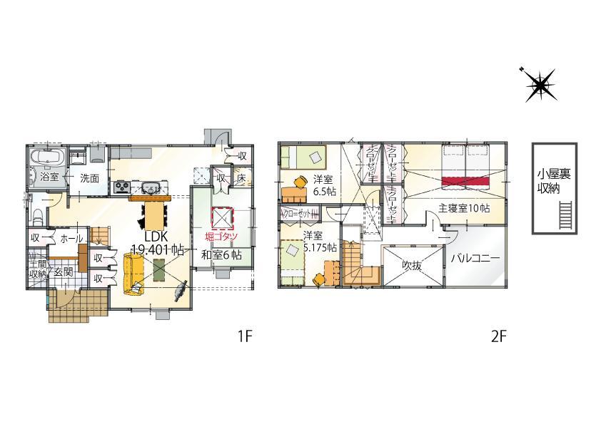 (2-1号地)、価格4229万2000円、4LDK、土地面積160.85m<sup>2</sup>、建物面積115.93m<sup>2</sup>