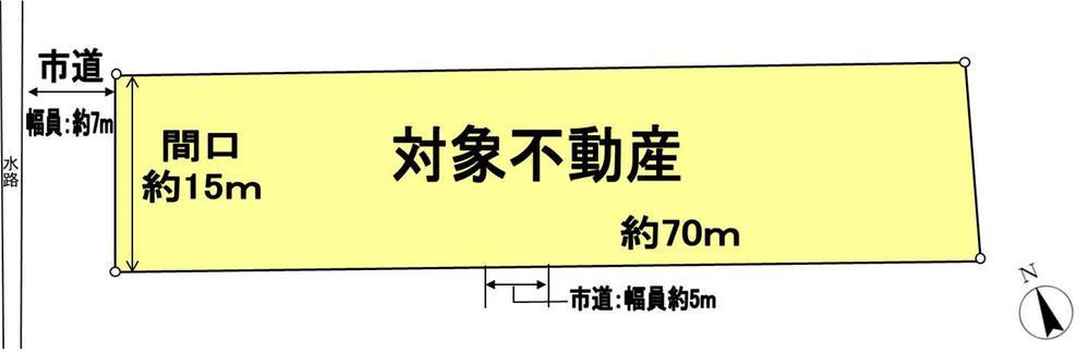 土地価格7300万円、土地面積1,207m<sup>2</sup>